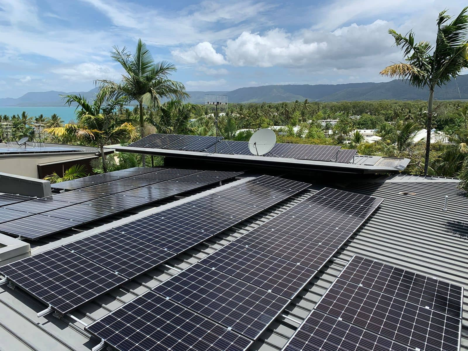 port douglas residential solar system roof photo
